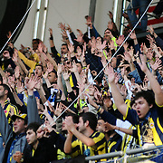 Fenerbahce's supporters during their Turkish superleague soccer derby match Fenerbahce between Besiktas at Sukru Saracaoglu stadium in Istanbul Turkey on Sunday 18 April 2010. Photo by TURKPIX