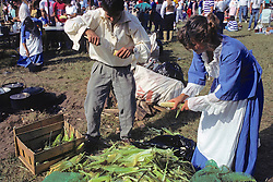 Corn Husking On 4th Of July
