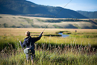 James Holland fishes a bend in Flat Creek while angling on opening day of fishing Saturday on the National Elk Refuge.