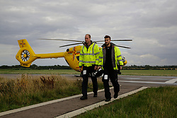 July 27, 2017 - Cambridge, United Kingdom - Image licensed to i-Images Picture Agency. 27/07/2017. Cambridge, United Kingdom. Prince William  starts his last shift with  the East Anglia Air Rescue at Cambridge airport, United Kingdom. Picture by ROTA / i-Images UK OUT FOR 28 DAYS (Credit Image: © Rota/i-Images via ZUMA Press)