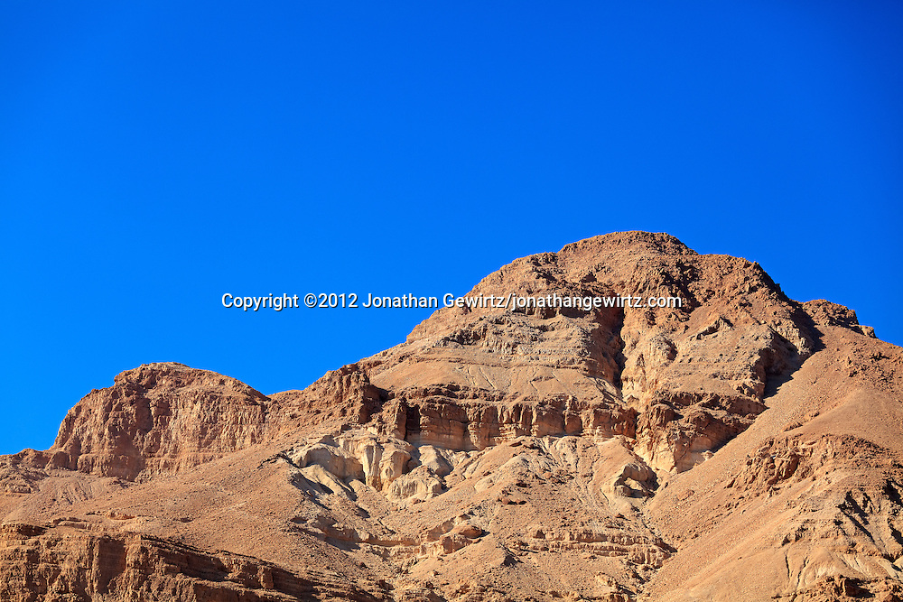 Barren hills along the Dead Sea coast near the oasis of Ein Gedi. WATERMARKS WILL NOT APPEAR ON PRINTS OR LICENSED IMAGES.