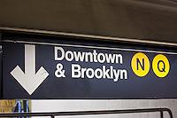 Subway scenes in New York City October 2008