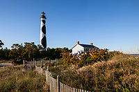 NC00889-00...NORTH CAROLINA - Cape Lookout Lighthouse and Keepers House in Cape Lookout National Seashore.
