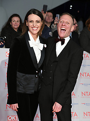 Keeley Hawes and Antony Cotton attending the National Television Awards 2018 held at the O2, London. Photo credit should read: Doug Peters/EMPICS Entertainment