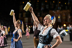 The 2019 Royal Edinburgh Military Tattoo launches its 2019 show Kaleidoscope. Staged on the Edinburgh Castle Esplanade between 2-24 August, the show marks its 69th year.<br /> Pictured: Heeremusikkorps Kassel