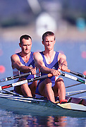 © Peter Spurrier Sports Photo.PH 44 (0) 973 819 551.e-mail rowingpics@aol.com..Sydney Olympic Games 2000.Penrith Lakes - Penrith - NSW - Australia..GBR LM2X Tom Middleton and Tom Kay 2000 Olympic Regatta Sydney International Regatta Centre (SIRC) 2000 Olympic Rowing Regatta00085138.tif