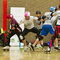 New Wheeled Order take on Gents In PInk in an Exhibition Match at the 2018 MRDA European Qualifiers, North Bridge Leisure Centre, Halifax, United Kingdom, 2018-08-18