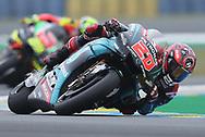 #20 Fabio Quatararo, French: Petronas Yamaha SRT during racing on the Bugatti Circuit at Le Mans, Le Mans, France on 19 May 2019.