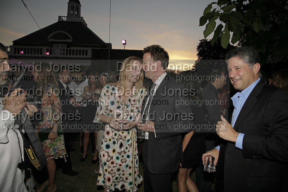 Clementine Hambro, Orlando Fraser AND Peter Soros. The Summer Party sponsored by Yves St. Laurent. Serpentine Gallery. 11 July 2006. . ONE TIME USE ONLY - DO NOT ARCHIVE  © Copyright Photograph by Dafydd Jones 66 Stockwell Park Rd. London SW9 0DA Tel 020 7733 0108 www.dafjones.com