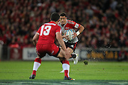 Dan Carter  during the Super Rugby Final at Suncorp Stadium in Brisbane,  July 9, 2011.  Photo: Patrick Hamilton/Photosport