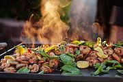 Shrimp served at Spring Valley Vineyard