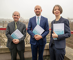 Pictured: Professor David Bell (University of Stirling), Ben Macpherson and Professor Christina BoswellMigration Minister Ben Macpherson visited Think Tank Maths Ltd in Edinburgh today on the day a report on migration by an expert panel was published.  The Expert Advisory Group on Migration and Population, chaired by Professor Christina Boswell of the University of Edinburgh, was asked to give independent expert advice to the Scottish Government on migration, population growth and demographic change.<br /><br />Mr Macpherson met with Professors Christina Boswell and David Bell (University of Stirling), Angela Mathis, Chief Executive Think Tank Maths ltd and Cyrille Mathis, Chief Scientific Officer Think Tank Maths ltd<br /><br /><br />Ger Harley | EEm 28 February 2019