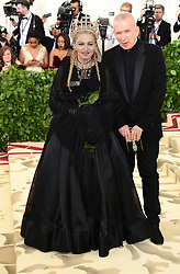 Jean Paul Gaultier and Madonna attending the Metropolitan Museum of Art Costume Institute Benefit Gala 2018 in New York, USA. PRESS ASSOCIATION Photo. Picture date: Picture date: Monday May 7, 2018. See PA story SHOWBIZ MET Gala. Photo credit should read: Ian West/PA Wire