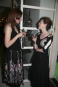 Charlotte Kissack and Sophie Branscombe. Colman Getty's 20th Birthday party. The Imagination Gallery. Store St. London W1. 17 January 2006.  -DO NOT ARCHIVE-© Copyright Photograph by Dafydd Jones. 248 Clapham Rd. London SW9 0PZ. Tel 0207 820 0771. www.dafjones.com.