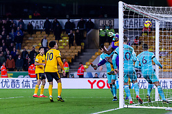 February 11, 2019 - Wolverhampton, England, United Kingdom - Willy Boly of Wolverhampton Wanderers scores the equalizer in injury time during the Premier League match between Wolverhampton Wanderers and Newcastle United at Molineux, Wolverhampton on Monday 11th February 2019. (Credit Image: © Mi News/NurPhoto via ZUMA Press)