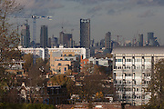 The capital rises in the background from Brockwell Park in Herne Hill, Lambeth SE24 south London.