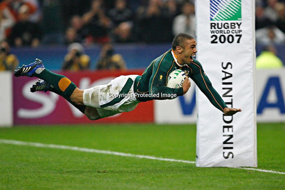 Bryan HABANA<br /> Rugby World Cup 2007<br /> SOUTH AFRICA v ARGENTINA  semi final<br /> Stade de France<br /> Sunday 14 september 07