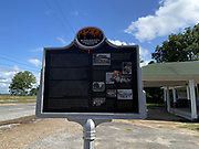 """Old Bryant Store in Money Mississippi site of the Emmett Till murder .The old Bryant Store in Money, MS. from 11/27.02.The old Bryant store it has stood the test of time but is in bad shape and decaying. The store is where Emmett Till a young black man from Chicago who stopped in the store and whistled or cat called at the owners blonde and white wife,Emmett was later found lynched and the men who were accused of the crime were found not guilty.The store owners was Roy Bryant it was his wife that was whistled at and Roy owned the store with his half brother J.W.Milam in 1955. Bryant and Milam were indicted for kidnapping and lynching Till but were later acquitted of all charges.(photo/Suzi Altman) Photo ©Suzi Altman MONEY, Miss. —<br /> On Thursday, the Emmett Till Interpretive Center announced that the historical marker for Emmett Till that usually sits in front of the Bryant's Grocery store in Money, Mississippi has gone missing.<br /> According to the center, it appears that a vehicle hit and removed the sign.<br /> On Aug. 28, 1955, Emmett Till, a Black teen from Chicago, was brutally killed in Mississippi. The Emmett Till Interpretive Center said in a tweet that this week marks the 66th anniversary of the brutal murder of 14-year-old Emmett Till.<br /> """"Our organization has been working for the past fifteen years despite this repeated vandalism to acknowledge what happened in the Mississippi Delta and to support racial healing in our communities,"""" said The Emmett Till Interpretive Center in a tweet.<br /> Till's murder was a key driving force in the civil rights movement. On Aug. 28, 1963, the Rev. Martin Luther King Jr. delivered his historic """"I Have A Dream"""" address as part of the March on Washington."""