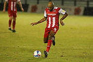 Exeter City's Nigel Atangana during the EFL Sky Bet League 2 match between Harrogate Town and Exeter City at the EnviroVent Stadium, Harrogate, United Kingdom on 19 January 2021.