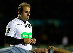Referee Stuart Berry<br /> <br /> Photographer Simon King/Replay Images<br /> <br /> Guinness PRO14 Round 15 - Cardiff Blues v Munster - Saturday 17th February 2018 - Cardiff Arms Park - Cardiff<br /> <br /> World Copyright © Replay Images . All rights reserved. info@replayimages.co.uk - http://replayimages.co.uk