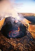Pu'u O'o Vent, Eruption, Kilauea Volcano, Island of Hawaii