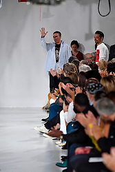 Designer Raf Simons on the runway during the Calvin Klein Fashion show at New York Fashion Week Spring Summer 2018 held in New York, NY on September 7, 2017. (Photo by Jonas Gustavsson/Sipa USA)