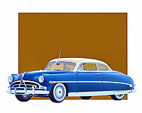 The Hudson Hornet is a car that tells people about reliability and flawless engineering. This is a car that could handle just about anything the road had to offer. This example from 1953 is brilliantly recreated in this digital painting from Jan Keteleer. This is the kind of car people remember for the rest of their lives. .<br />
