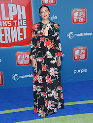 November 5, 2018 - Hollywood, California, U.S. - Mandy Moore arrives for the 'Ralph Breaks the Internet' World Premiere at the El Capitan theater. (Credit Image: © Lisa O'Connor/ZUMA Wire)