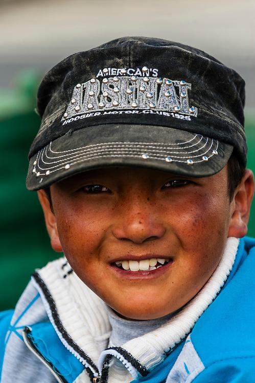 Tibetan Boy, Shannan Prefecture, Tibet (Xizang), China.
