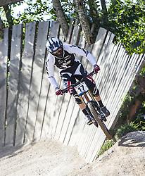 02.09.2012, Bikepark, Leogang, AUT, UCI, Mountainbike und Trial Weltmeisterschaften, MEN Elite, Downhill, im Bild Justin Leov (NZL) // during UCI Mountainbike and Trial World Championships, MEN Elite, Downhill at the Bikepark, Leogang, Austria on 2012/09/02. EXPA Pictures © 2012, PhotoCredit: EXPA/ Juergen Feichter