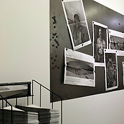 Mira Mexico installation for the 2013 Sondheim Prize Exhibition at The Walter's Art Museum in Baltimore Maryland. Newspapers on a rack for visitors to the museum to take away and hang in public and also interact with in the gallery space adjacent to Louie's prints.<br /> (Credit Image: © Louie Palu/ZUMA Press)