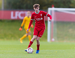 KIRKBY, ENGLAND - Saturday, October 31, 2020: Liverpool's Tyler Morton during the Under-18 Premier League match between Liverpool FC Under-18's and Newcastle United FC Under-18's at the Liverpool Academy. Liverpool won 4-1. (Pic by David Rawcliffe/Propaganda)