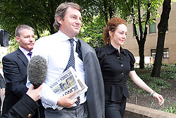 © London News Pictures. 05/06/2013. London, UK. CHARLIE BROOKS and REBEKAH BROOKS , Former CEO of News International and former editor of the News of The Worlds arriving Southwark Crown Court in London where she is due to face charges relating to phone hacking at the News of The World. . Photo credit: Ben Cawthra/LNP