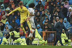 January 13, 2018 - Madrid, Spain - Marcelo (defender; Real Madrid) in action during La Liga match between Real Madrid and Villareal CF at Santiago Bernabeu on January 13, 2018 in Madrid (Credit Image: © Jack Abuin via ZUMA Wire)