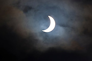 09.48 March 2015 Solar eclipse, partial eclipse of the sun, rare natural phenomenon seen from Burford, The Cotswolds, England UK