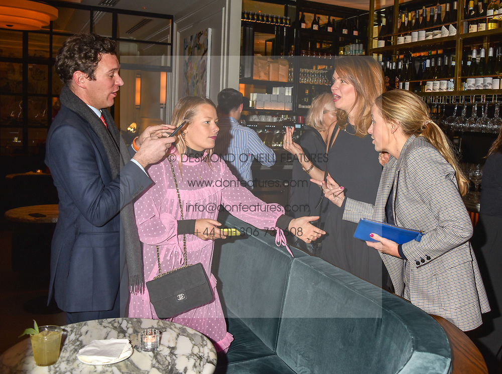 21 November 2019 - Jack Brooksbank, Davina Harbord, Gabriella Peacock and Astrid Harbord at the launch of Sam's Riverside Restaurant, 1 Crisp Walk, Hammersmith hosted by owner Sam Harrison, Edward Taylor and Jack Brooksbank.<br /> <br /> Photo by Dominic O'Neill/Desmond O'Neill Features Ltd.  +44(0)1306 731608  www.donfeatures.com