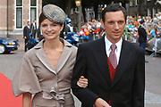 His highness prince Pieter-Christiaan of Oranje Nassau, of Vollenhoven and Ms drs. A.T. van Eijk get married  in the Great or St Jeroens Church in Noordwijk. <br /> <br /> <br /> Zijne Hoogheid Prins Pieter-Christiaan van Oranje-Nassau, van Vollenhoven en mevrouw drs. A.T. van Eijk treden in het (kerkelijk) huwelijk in de Grote St. Jeroenskerk in Noordwijk<br /> <br /> On the photo/Op de foto:<br /> <br /> <br /> <br /> Alexandra gravin de Wit Cavard