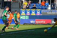 Luton Town midfielder Pelly-Ruddock Mpanzu shoots towards the goal during the EFL Sky Bet League 1 match between Luton Town and Coventry City at Kenilworth Road, Luton, England on 24 February 2019.