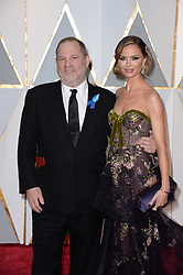Harvey Weinstein and his wife Georgina Chapman attending for the 89th Academy Awards (Oscars) ceremony at the Dolby Theater in Los Angeles, CA, USA, February 26, 2017. Photo by Lionel Hahn/ABACAPRESS.COM  | 583873_045 Los Angeles Etats-Unis United States