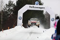 13.02.2015, Karlstad, Karlstad, SWE, FIA, WRC, Schweden Rallye, im Bild Kris Meeke/Paul Nagle (Citroen Total Abu Dhabi WRT/DS3 WRC) // during the WRC Sweden Rallye at the Raga in Karlstad in Karlstad, Sweden on 2015/02/13. EXPA Pictures © 2015, PhotoCredit: EXPA/ Eibner-Pressefoto/ Bermel<br /> <br /> *****ATTENTION - OUT of GER*****