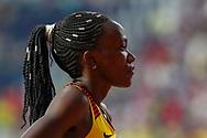 Winnie Nanyondo (Uganda), Women's 800m Round 1, Heat 3, during the 2019 IAAF World Athletics Championships at Khalifa International Stadium, Doha, Qatar on 27 September 2019.