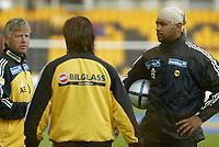 Fotball, 07. junil 2004,Tippeligaen, Lillestrøm - Stabœk, Emille Baron, Per Magne Misund og Arne Erlandsen, Lillestrø