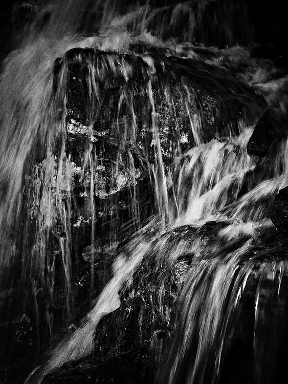 Norway - Small waterfall in Romsdal's valley BW
