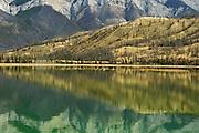 Reflection on Talbot Lake<br /> Jasper National Park<br /> Alberta<br /> Canada