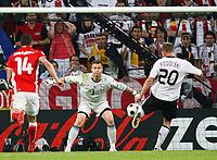 Tor 2:0 Lukas Podolski Deutschland , Torwart Artur Boruc<br /> EURO 2008 Vorrunde Deutschland - Polen<br /> Tyskland -Polen , EM fotball , 8. juni 2008<br /> Norway only