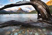 Glacier, Montana, Two Medicine, Sunrise, Mountains