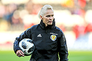 Scotland manager Shelley Kerr ahead of the 2019 FIFA Women's World Cup UEFA Qualifier match between Scotland Women and Switzerland at the Simple Digital Arena, St Mirren, Scotland on 30 August 2018.