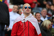 England fan looking onto the pitch during the FIFA World Cup Qualifier group stage match between England and Lithuania at Wembley Stadium, London, England on 26 March 2017. Photo by Matthew Redman.