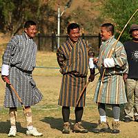 Asia, Bhutan, Thimpu. Archery is the national sport of Bhutan.