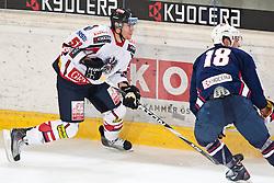 27.04.2011, TWK Arena, Innsbruck, AUT, IIHF WM 2011, Testspiel, Österreich vs USA, im Bild  Matthias Trattnig (AUT, #51, EC Red Bull Salzburg) vs Mike Brown (USA, #18, Toronto Maple Leafs, NHL) Austria and USA, in preparation of IIHF world Championship 2011 at TWK Arena in Innsbruck Austria on 27/4/2011. EXPA Pictures © 2011, PhotoCredit: EXPA/ J. Groder